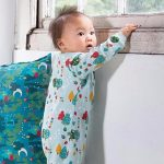 Organic Fairtrade Cotton – Falling Leaves Baby Grows